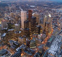 Toronto downtown view from the CN tower , Canada by alopezc72