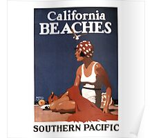 Vintage Travel Poster: California Beaches Poster