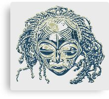 African traditional ceremonial mask Canvas Print