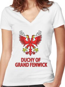 Duchy of Grand Fenwick - Coat of Arms Women's Fitted V-Neck T-Shirt