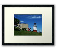 Vermilon Replica Lighthouse Framed Print
