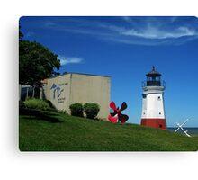 Vermilon Replica Lighthouse Canvas Print