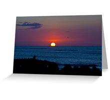 Fishpond Sunset Greeting Card