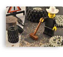 Lego Texan Tyre Shop Canvas Print