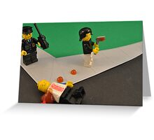 Lego Tranny Axe Murderer Greeting Card