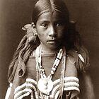 Native American Portrait: Jicarilla Girl in Feast Dress by Chunga