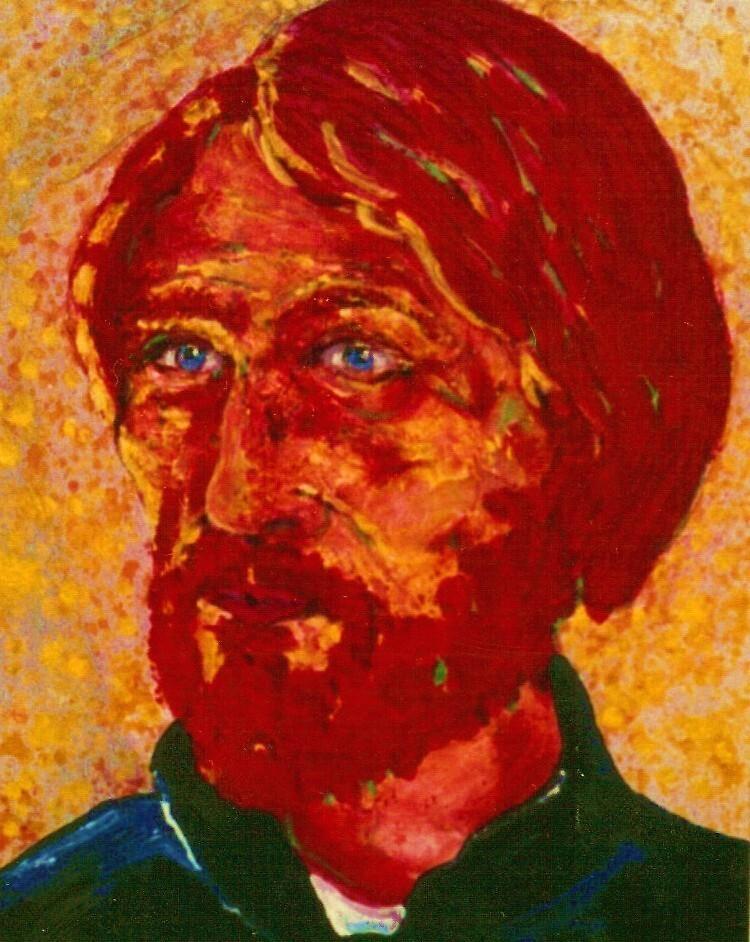Portrait Of Vincent Van Gogh. by Richard  Tuvey