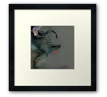 "Shadowtwister ""Dance"" conté drawing  - textured v.2 Framed Print"