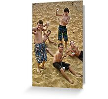 Boys Will Be Boys!! Greeting Card