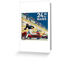 Vintage - 24 Hours of Le Mans (24 H du Mons) Greeting Card