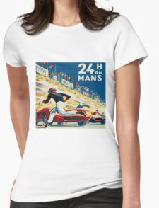 Vintage - 24 Hours of Le Mans (24 H du Mons) Womens Fitted T-Shirt