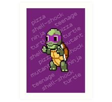 Squirtle Turtle - Donnie Art Print