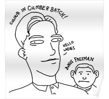 Colour in Cumberbatch! Bonus Freeman. Poster