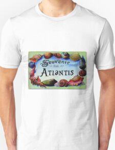 Vintage Postcard: Souvenir from Atlantis Unisex T-Shirt