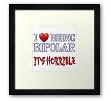 Being Bipolar Framed Print
