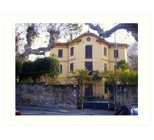 Lovely House on Lake of Como Art Print