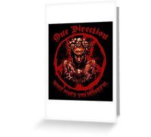 Boy Band Metal Shirt Greeting Card