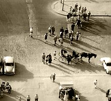 Paris 1960, scene at base of Eifel Tower. by ronsphotos