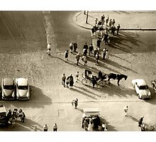 Paris 1960, scene at base of Eifel Tower. Photographic Print