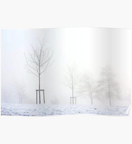 White mist Poster