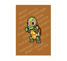 Squirtle Turtle - Mikey Art Print