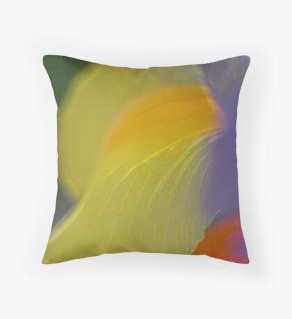 Dutch Iris - An artistically  blurred rendition    Throw Pillow
