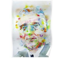 FRANKLIN D. ROOSEVELT - watercolor portrait Poster