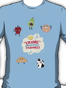 """Crying"" Breakfast Friends! // Steven Universe T-Shirt"