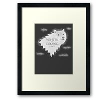 House Doge - Winter Is Coming Framed Print