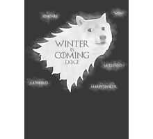 House Doge - Winter Is Coming Photographic Print