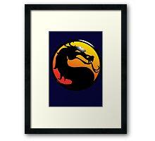 Fighting Dragon Framed Print