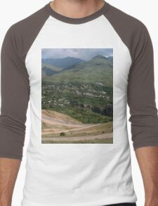 a historic Armenia landscape Men's Baseball ¾ T-Shirt