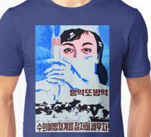 Let us establish the preventive veterinarian system north Korean propaganda poster Unisex T-Shirt