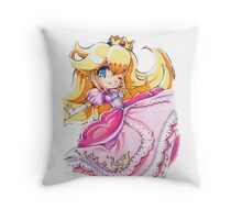 Chibi Princess Peach Throw Pillow