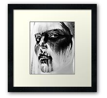 Ladies....dont forget to remove makeup before bed... Xx Framed Print