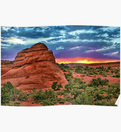Red Rock Sunset Poster