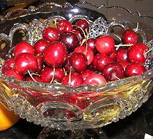 Bowl of cherries by Wildflower7777