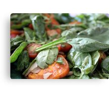 Baby Spinach and Sweetpotato Salad Canvas Print