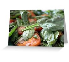 Baby Spinach and Sweetpotato Salad Greeting Card