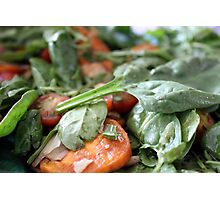 Baby Spinach and Sweetpotato Salad Photographic Print