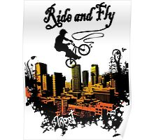 ride and fly design t-shirt Poster