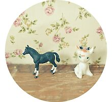 The Horse and Fawn by Cassia