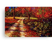 The Autumn Road Canvas Print