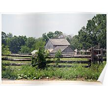 Rustic Country Farm Poster