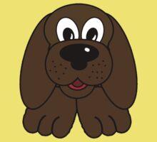 Children's Brown Puppy Dog Kids Tee