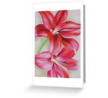 """Lillies"" by Tania Kay Greeting Card"