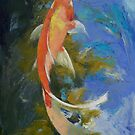 Butterfly Koi Art by Michael Creese