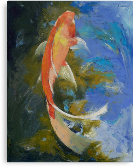 Butterfly Koi Painting by Michael Creese