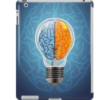 Symbol of idea with the brain shape left and right iPad Case/Skin