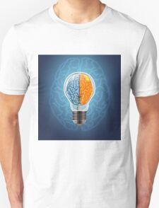 Symbol of idea with the brain shape left and right Unisex T-Shirt
